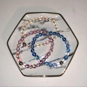 Jewelry - Bundle! 3 beautiful iridescent mermaid bracelets!